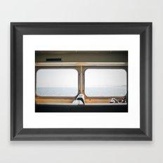 ferry. Framed Art Print