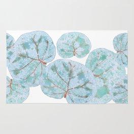 Sea Grape Tropical Leaves Rug
