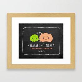 Wasabi and Ginger Together Forever Framed Art Print