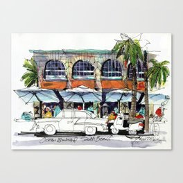 South Beach Sidewalks Canvas Print