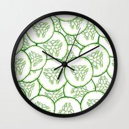 Cucumber slices pattern design Wall Clock