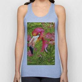 Flamingo in Jungle Unisex Tank Top