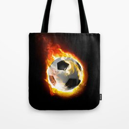 Soccer Fire Ball Tote Bag