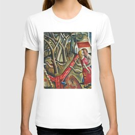 1924 Classical Masterpiece 'The Garden Enclosed' by David Jones T-shirt