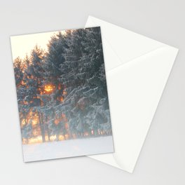 Sunrise in winter cloud forest Stationery Cards