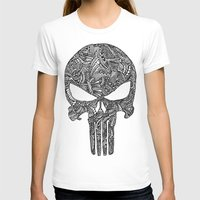 punisher T-shirts featuring Punisher  by christoph_loves_drawing