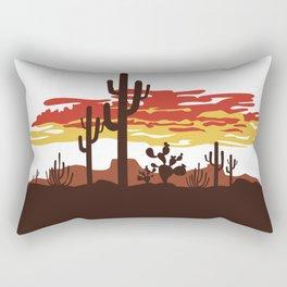 Southwestern Desert Sunset Rectangular Pillow