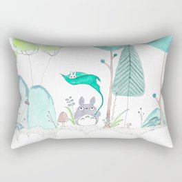 My Neighbor in the Forest Rectangular Pillow