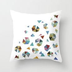 Color Hexagons Throw Pillow