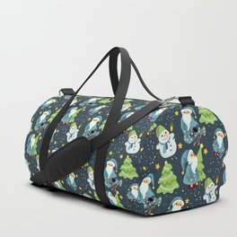 Christmas Winter Pattern Duffle Bag