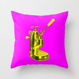 Pop Art La Pavoni Lever Espresso Machine No.1 Throw Pillow
