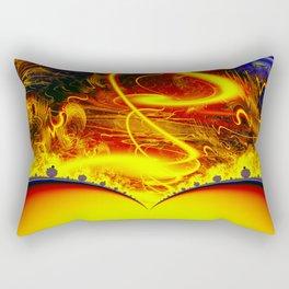 Firestorm from a double sun Rectangular Pillow