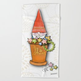 Merry Christmas Gnomey Beach Towel