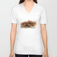 prague V-neck T-shirts featuring Hradczany - Prague by jbjart