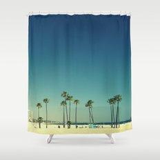 Summer Beach Blue Shower Curtain