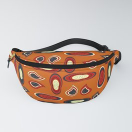 Orange paisley Fanny Pack