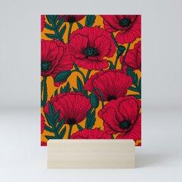 Red poppy garden    Mini Art Print