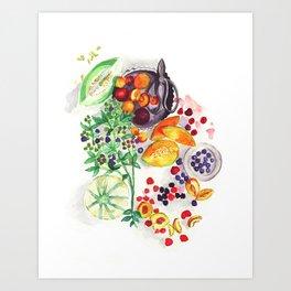 Nature's bounty Art Print