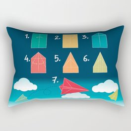 Paper plane - How to Rectangular Pillow