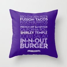 Los Angeles — Delicious City Prints Throw Pillow