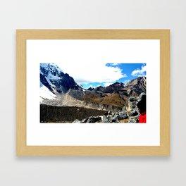Highest point of the Salkantay Trek Framed Art Print