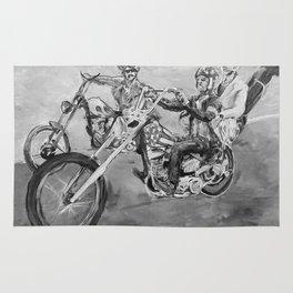 Easy rider black and white Rug
