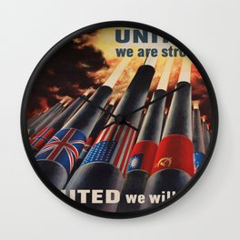 Vintage poster - Allies Wall Clock