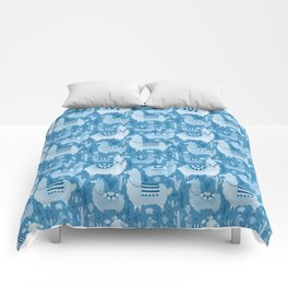 Alpacas and cacti Comforters