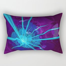 Electric Blue & Ultraviolet Fractal Sea Anemone Rectangular Pillow