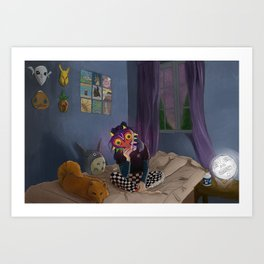 Skull Kid of the Moon Art Print