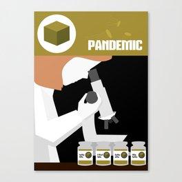 Pandemic - Yellow Canvas Print