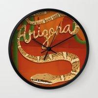 arizona Wall Clocks featuring Arizona by Santiago Uceda