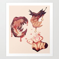 Candy Teeth Art Print