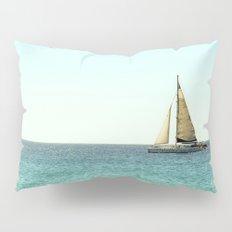 Sail Away with Me - Ocean, Sea, Blue Sky and Summer Sun Pillow Sham