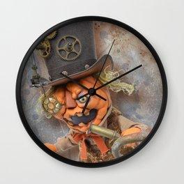 Rucus Studio Steam Punkin  Wall Clock