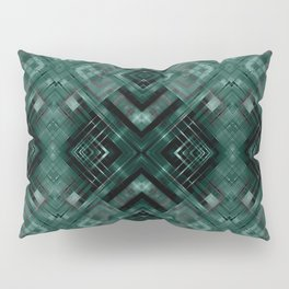 Black and green abstract pattern . Pillow Sham