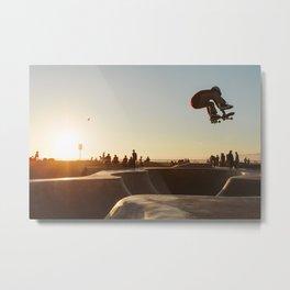 Venice Beach Skatepark Metal Print