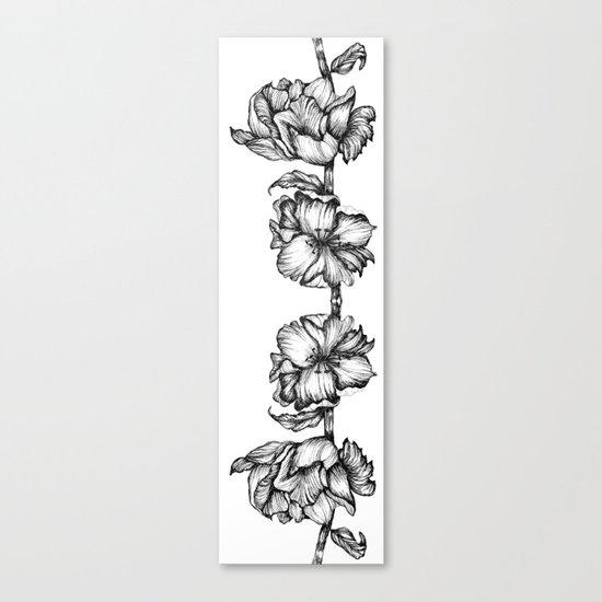 Floral ink II Mirror Canvas Print