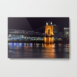 John A. Roebling Bridge Metal Print