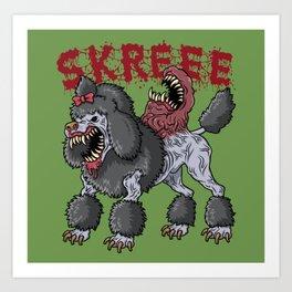 Poodle Parasite Art Print