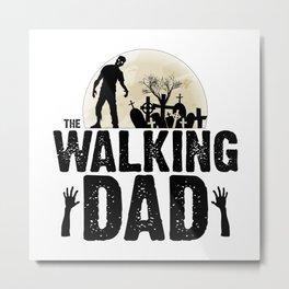 Zombie DAD Metal Print