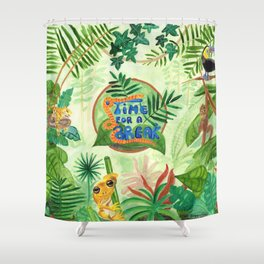 Medilludesign Ecotherapy Jungle Shower Curtain