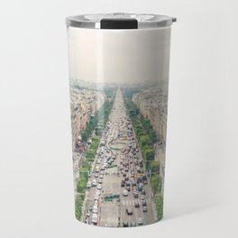 Aerial view of the Champs-Élysées in Paris, France Travel Mug