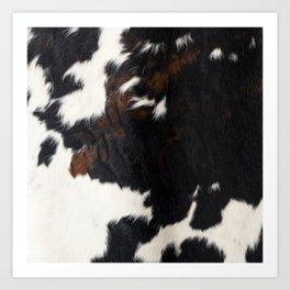 Cowhide Farmhouse Decor Art Print