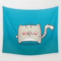 kitty Wall Tapestries featuring Kitty by jebirvoki