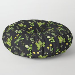 Lovely Weeds By Night Floor Pillow