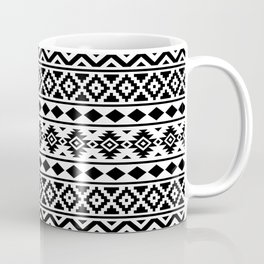 Aztec Essence Ptn III Black on White Coffee Mug