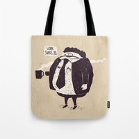 quotes Tote Bags featuring Quotes by Ronan Lynam