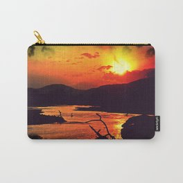 African River Sunset Leopard Carry-All Pouch