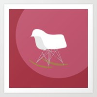 eames Art Prints featuring iconics - Eames by Sillustration